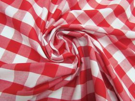 Great value 25mm Gingham Cotton- Red #5559 available to order online New Zealand