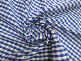 Great value 6mm Gingham Cotton- Royal Blue #5561 available to order online New Zealand