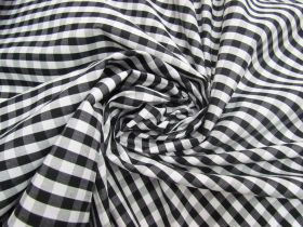 Great value 6mm Gingham Cotton- Black #5564 available to order online New Zealand