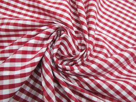 Great value 6mm Gingham Cotton- Red #5565 available to order online New Zealand