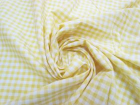 Great value 6mm Gingham Cotton- Yellow #5566 available to order online New Zealand