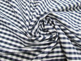 Great value 6mm Gingham Cotton- Navy #5567 available to order online New Zealand