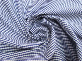 Great value 3mm Gingham Cotton- Royal Blue #5571 available to order online New Zealand