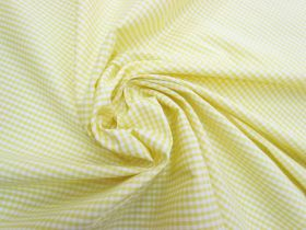 Great value 3mm Gingham Cotton- Yellow #5574 available to order online New Zealand