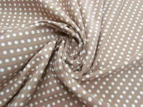 Great value Embroidered Spot Cotton- Vanilla Caramel #5593 available to order online New Zealand