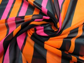 Great value Vibrant Stripe Chiffon- Pink / Orange #1925 available to order online New Zealand