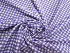 Great value Gingham Double Knit- Purple Pop #5626 available to order online New Zealand
