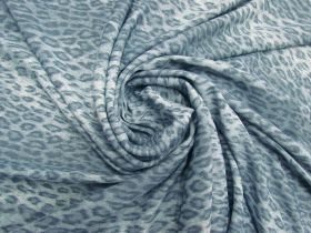 Great value Leopard Stretch Viscose- Chill Blue #5655 available to order online New Zealand