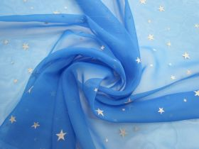 Great value Super Star Chiffon- Bright Blue #5659 available to order online New Zealand