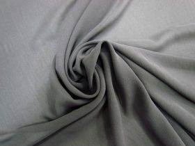 Great value Stretch Silk Georgette- Ash Grey #5665 available to order online New Zealand