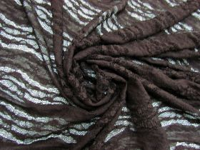 Great value Floral Wave Stretch Lace- Deep Brown #5680 available to order online New Zealand