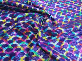 Great value Rainbow Mermaid Foile Spandex- Purple available to order online New Zealand