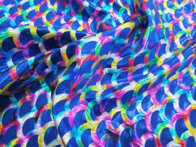 Great value Rainbow Mermaid Foile Spandex- Royal available to order online New Zealand