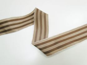 Great value 63mm Royal Taffeta Wide Stripe Ribbon- Brown/Latte available to order online New Zealand