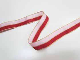 Great value 25mm Nutcracker Two Tone Ribbon- Pink/Red available to order online New Zealand