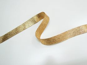 Great value 25mm Stellar Metallic Ribbon- Antique Gold available to order online New Zealand