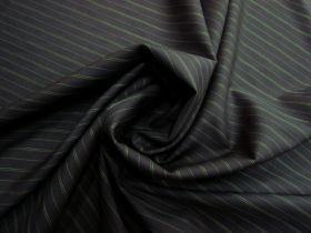 Great value Pinstripe Wool Blend Suiting- Green / Black #5758 available to order online New Zealand