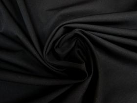 Great value Wool Cotton Twill Suiting- Black #5763 available to order online New Zealand
