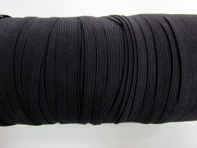 Great value Roll of 6mm Braided Elastic- Black #1001F available to order online New Zealand