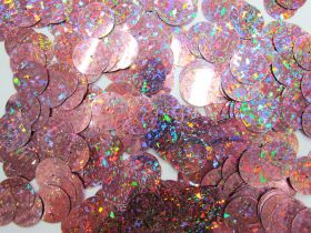 Great value 24gm Sequin Pack- Holographic Dusty Pink- 20mm #015 available to order online New Zealand