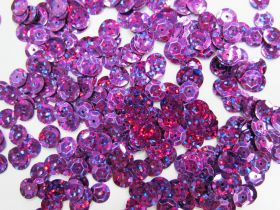 Great value 24gm Sequin Pack- Holographic Purple- 6mm #026 available to order online New Zealand