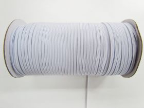 Great value Roll of 3mm Braided Elastic- White #1006F available to order online New Zealand