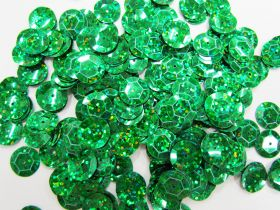 Great value 24gm Sequin Pack- Holographic Emerald- 12mm #035 available to order online New Zealand