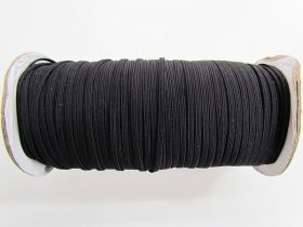 Great value Roll of 3mm Braided Elastic- Black #1007F available to order online New Zealand