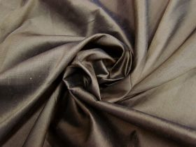 Great value ONE OFF Silk Dupion- Brown-2.7m Remnant Piece CL1040 available to order online New Zealand