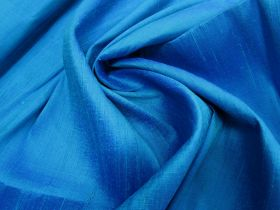 Great value ONE OFF Silk Dupion- Bold Blue - 1m Remnant Piece CL1043 available to order online New Zealand