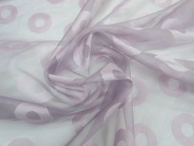 Great value ONE OFF Silk Organza- Lilac Circle- 2.3m Remnant Piece CL1044 available to order online New Zealand