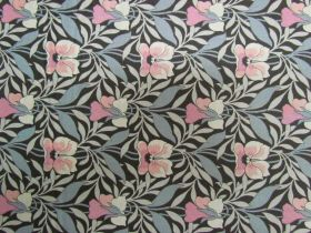 Great value Liberty Cotton- Harriet's Pansy- Pink/Grey- 0477548Y- The Hesketh House Collection available to order online New Zealand