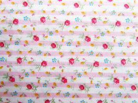 Great value Sweet Flower Stripe Cotton #PW1107 available to order online New Zealand