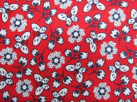 Great value Butterfly Garden Cotton- Red #PW1074 available to order online New Zealand