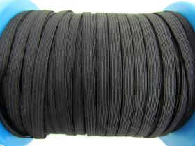 Great value 150m Roll of 6mm Braided Elastic- Black #1027F available to order online New Zealand