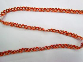 Great value Baby Ripple Scallop Stretch Trim- Orange/Blue available to order online New Zealand
