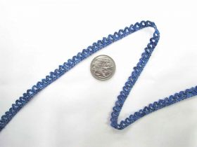 Great value Metallic Baby Ripple Scallop Stretch Trim- Blue available to order online New Zealand