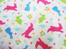Great value Happy Hopping Cotton- White available to order online New Zealand