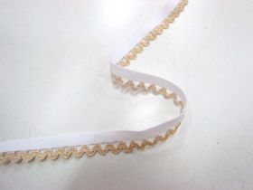 Great value Gold Glitter Frill Elastic available to order online New Zealand