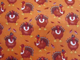 Great value Thanksgiving Turkey Cotton #PW1051 available to order online New Zealand