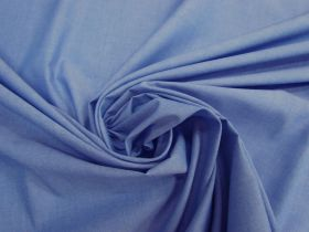 Great value Soft Cotton Blend Chambray- Cornflower Blue #4614 available to order online New Zealand
