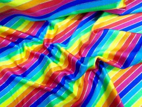 Great value Rainbow Foil Spot Spandex available to order online New Zealand