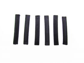 Great value Covered Plastic Boning Pieces- 6.5cm Black RW224-  6 for $4 available to order online New Zealand