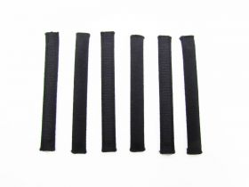 Great value Covered Plastic Boning Pieces- 8.5cm Black RW228-  6 for $4 available to order online New Zealand