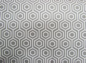 Great value Hexagon Cotton- Grey #PW1025 available to order online New Zealand