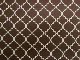 Great value Quatrefoil Cotton- Brown #PW1151 available to order online New Zealand