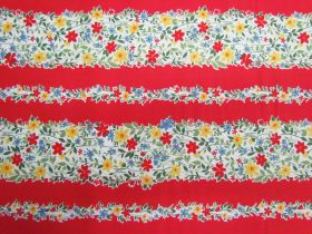 Great value Strawberry Jam Stripe Cotton- Red D#9364 available to order online New Zealand
