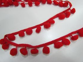 Great value Pom Poms- Red available to order online New Zealand