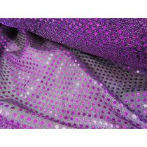 3mm American Sequins- Magenta on Black