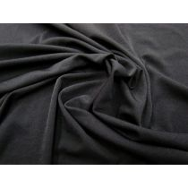 Super Soft & Drapey Stretch Lining- Black #946